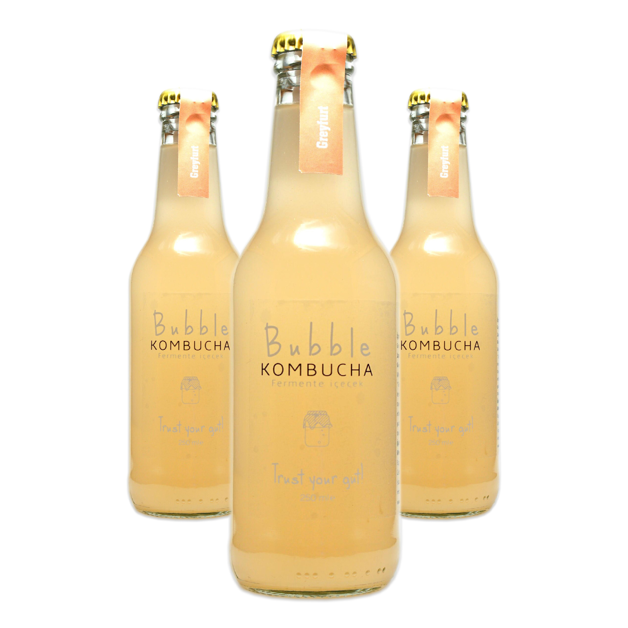 BUBBLE KOMBUCHA GREYFURT 250 ML 3'LÜ